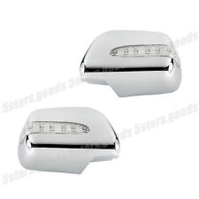 Turn Signal LED Chrome Mirror Covers Molding Trims For 2005-2011 Toyota Tacoma