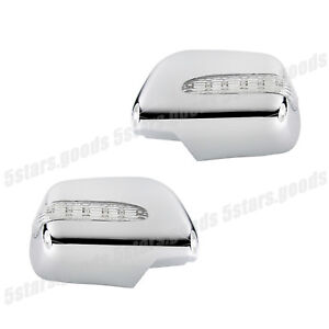 Turn Signal LED Chrome Mirror Covers Molding Trims For 2004-2006 Lexus RX330 SUV