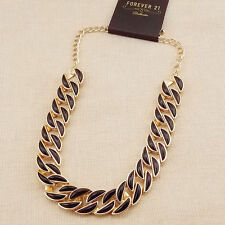 """16"""" New Forever21 Enamel Thick Chain Necklace Short Fashion Women Party Jewelry"""