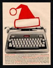 1959 ROYAL Futura Retro Typewriter - Santa Hat - Christmas - Holiday VINTAGE AD