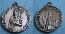 Vintage Creed 2-sided St. Patrick New York City sterling charm