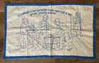 Vtg Handmade Embroidered Wall Tapestry Hanging/Table Scarf Czech? Parents Prayer