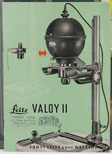 LEITZ VALOY II Notice Brochure  8 pages  1954 en Français