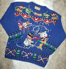 VINTAGE CRYSTAL-KOBE Women's Ugly Christmas Sweater With Attached Beads Size M/M