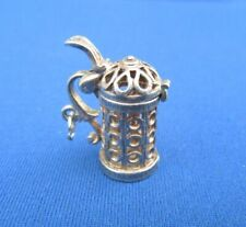 VINTAGE 925 STERLING SILVER CHARM TANKARD JUG CUP OPENS 4.4 g
