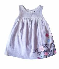 Gap Baby Girl Dress and Knickers Cat Floral Grey Summer Newborn 0-3 Months