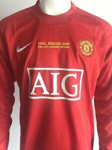 Nike Ronaldo 07/08 Champions League Football Soccer Home Jersey Long sleeves M