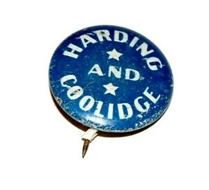 1920 WARREN HARDING CALVIN COOLIDGE campaign pin pinback badge political button