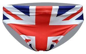 ACCLAIM British Union Jack Sports Fit 7 cm Flag Brief Swimming Trunks Mens NEW