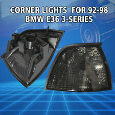 2× New Euro Smoke Corner Lights for 92-98 BMW E36 3-Series 2DR Coupe/Convertible