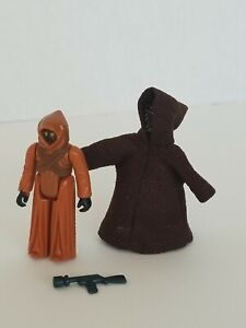 Vintage Star Wars 1977 Jawa with Cloak and Blaster Kenner