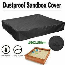 UK Sandpit Cover Bench Seat Ball Sand Oxford Waterproof Pit Sandbox Square Kids