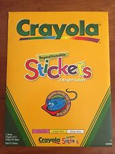 Crayola Repositionable Stickers for Printing 5 Sheets, 45 Round Stickers - New