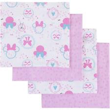 Disney Minnie Bows are Best 4pk Flannel Receiving Blanket