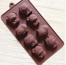 Hippo Lion Bear Silicone Chocolate Cake Cookie Mould BakingTray Bakeware