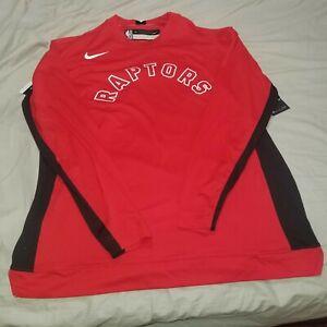 Nike NBA Toronto Raptors Player Issue Long Sleeve shirt AV0919-657 Sz M & XLT
