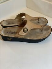 Alegria Carina Womens Brown Leather Thong Sandals Size 39