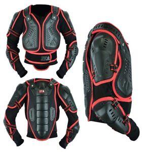 Kids Childrens Motocross Body Armour Protection Motorbike Jacket Vest Chest Back