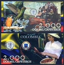 COLOMBIA Medellin 2000 Cafeteros 2013 Polymer - UNC - 2013