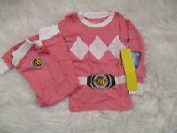 Power Rangers Toddler Girls Pink 2 Piece Snug Fit Pajama Set 2T 3T NWT NEW