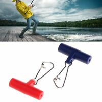 10Pcs Fishing Sinker Slip Plastic Clips Head Swivel With Hook Slide Snap Swivels