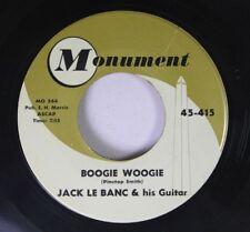 R&B Instr. 45 Jack Le Banc Boogie Woogie On Monument