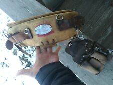Vintage 1980 Klein Tools Usa Linemans Leather Belt Model 5249N20