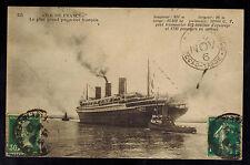 1926 Ile de France Transatlantic Ship Real Picture Postcard Cover to Brazil