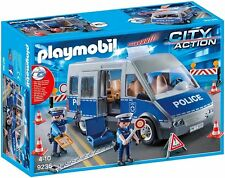 PLAYMOBIL 9236 Van Police With Control of Traffic Pla9236