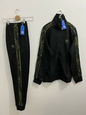 Adidas Originals Tracksuit Black Camouflage Size S