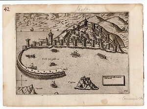 GREECE CAMOCIO 1574 MAP MODON METHONI MOREA PELOPONNESE 2