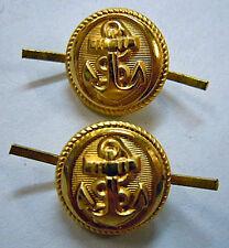 Boutons dorés pour jugulaire casquette MARINE NATIONALE authentiques NAVY CAP