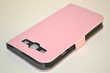 Pink Genuine Leather Wallet Case Cover For Samsung Galaxy S3 Hold Cards & Cash