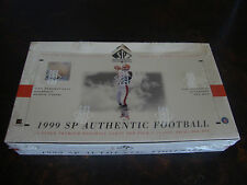 1999 SP Authentic Football Box---Hobby---Factory Sealed---24 Packs---1 Auto/Box
