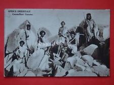 AOI Colonie coloniale vecchia cartolina CAMMELLIERI CUNAMA ascaro ascari