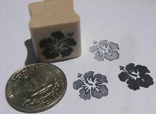 P24  Miniature Hibiscus flower rubber stamp  WM