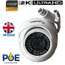 5MP POE IP HD Wired Dome Camera 1920P Outdoor Waterproof IR Surveillance Dome UK