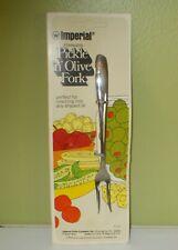 Lot of 16 Vintage Imperial Pickle 'n' Olive Fork NOS Stainless IKCO 1976 K-101