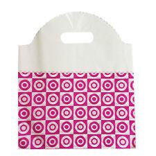 50pcs Rose 25x29cm Plastic Bag Carry Shopping Die Cut Handle Bags WSHOP2573x50