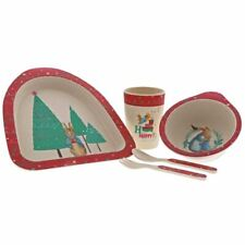 Beatrix Potter Peter Rabbit Christmas Dinner and Cutlery Set - Nursery Baby