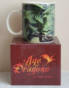 ANNE STOKES - AGE OF DRAGONS - FOREST DRAGON MUG - RARE COLLECTABLE