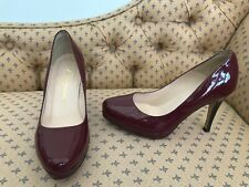 RUSSELL & BROMLEY Ladies Burgundy Patent Stiletto Shoes @ Size 37 Court
