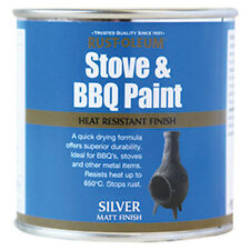 Rust-Oleum Stove and BBQ Heat Resistant Brush Paint Silver 650 Degrees 250ml