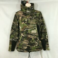 Under Armour Women's Zypher 1/4 Zip Forest Camo Pullover Sz Medium 1297415