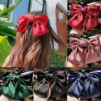 Fashion Korean Large Bow Ponytail Vintage Linen Hair Clip Women Hair Accessories