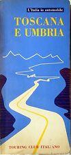 TOURING CLUB ITALIANO ITINERARI TURISTICI TOSCANA E UMBRIA 1957