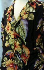 Mans IOLANI Hawaiian Shirt SZ. XL Vibrant colors MAGNUM CAMP ALOHA SHIRT