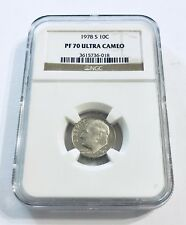 1978 S 10c Roosevelt DIME NGC PF70 ULTRA CAMEO Brown Label - Ships Fast