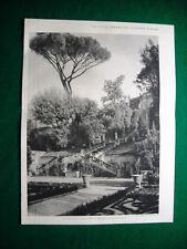 Nel 1931 Roma Villa Urbana dei Colonna Veduta Giardino Superiore