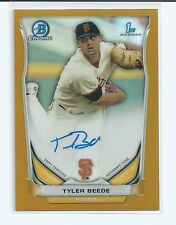 Tyler Beede RC 2014 Bowman Chrome Draft 1st RC Auto GOLD REFRACTOR #/50 Giants